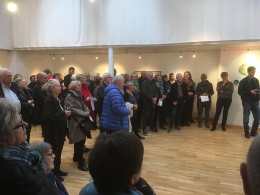 Bilder fra åpning av juleutstillingen 17. november med Sidsel Hanum og Ronald Jakobsen.