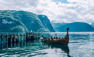 Old viking boat in Norway