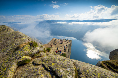 Hiking to the Pulpit Rock (Preikestolen) in Norway