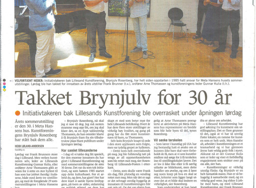 """Takket Brynjulv for 30 år"""