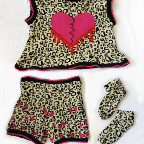 Cheating Heart Knit Set