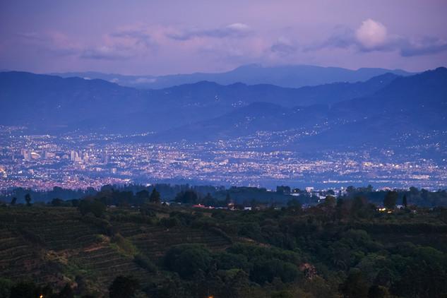 City of San Jose at twilight. Costa Rica