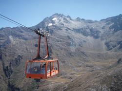 Les Andes, téléphérique