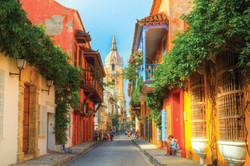Carthagène, rue pittoresque