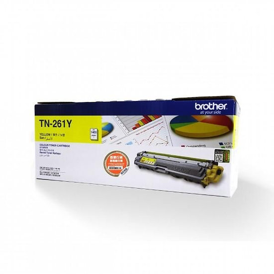 Brother TN-261Y Yellow Toner Cartridge (1400 pages)