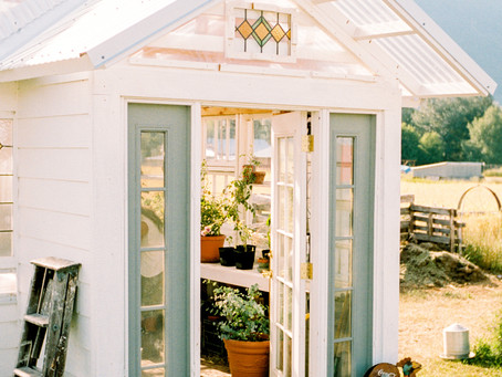 American Farmhouse Style Feature: Greenhouse She Shed