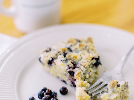 Gluten Free Wild Huckleberry & Lemon Scones