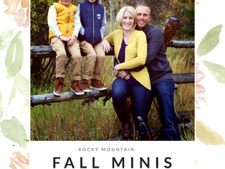 Fall Mini-Sessions || Rocky Mountain Photographer
