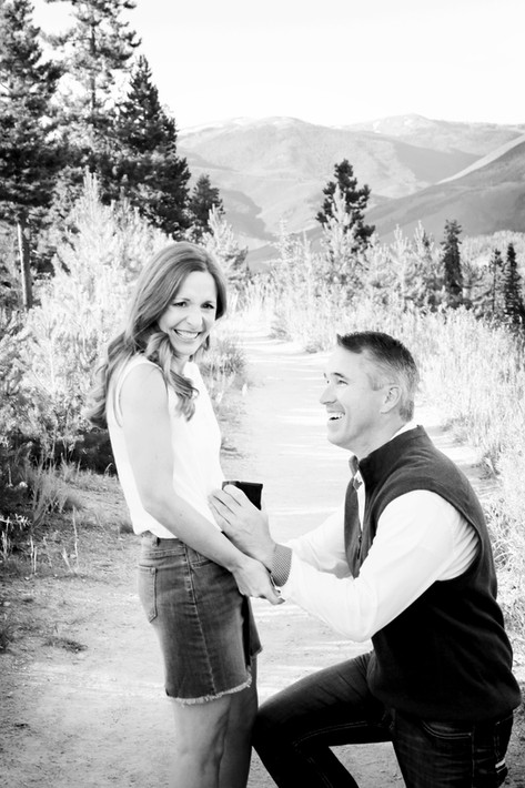 Engaged in the Colorado Rockies