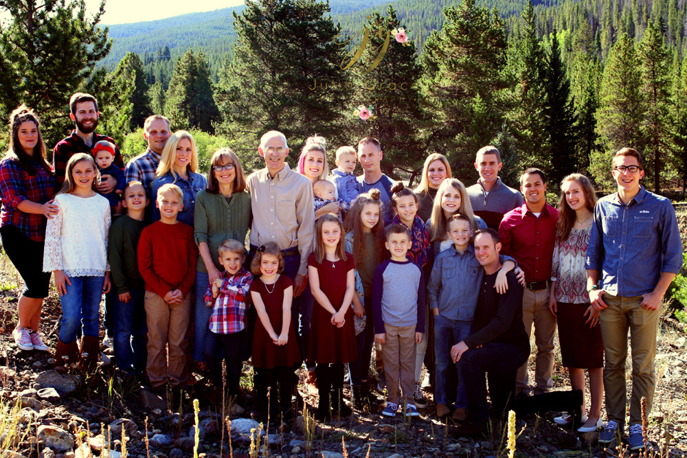 The family gathering in Breckenridge, Colorado