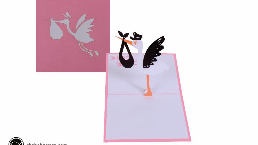 Pink Stork Baby
