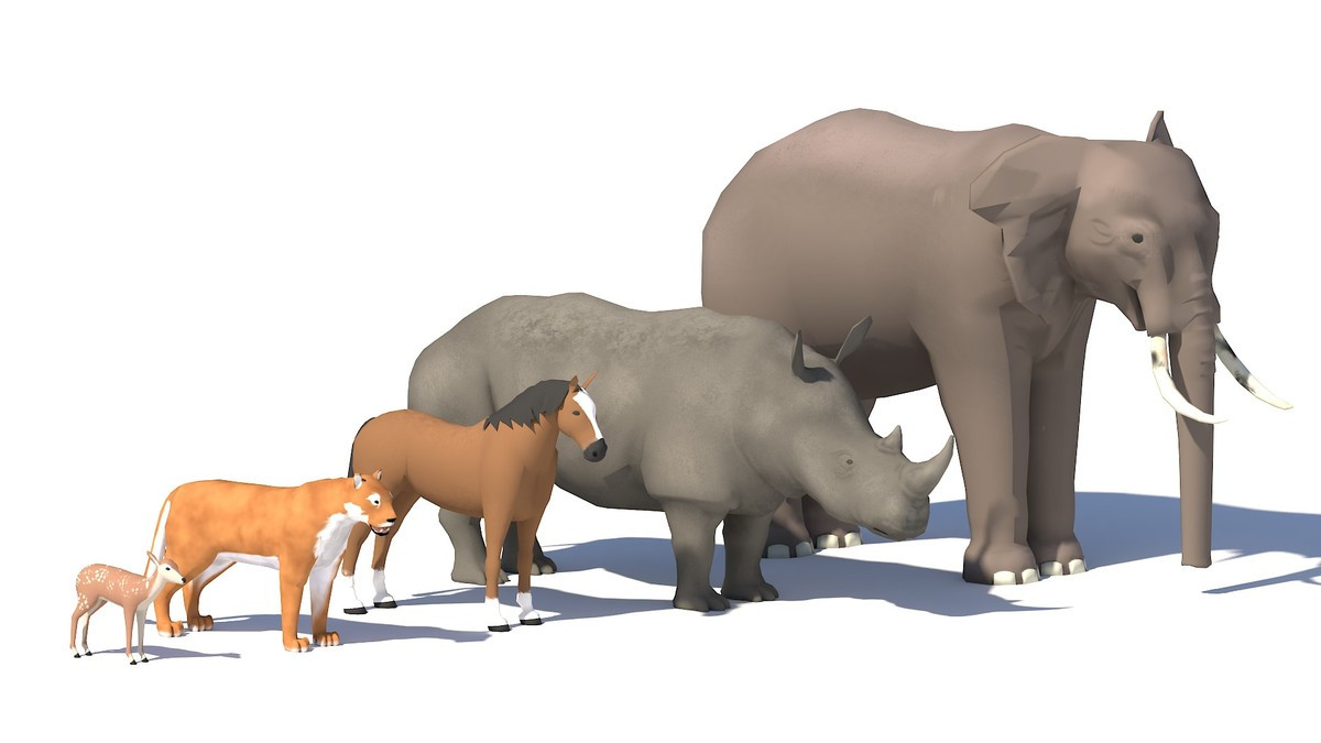 Low poly animals