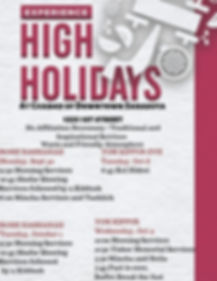 INSPIRING HIGH HOLIDAY SERVICES WITH MEA