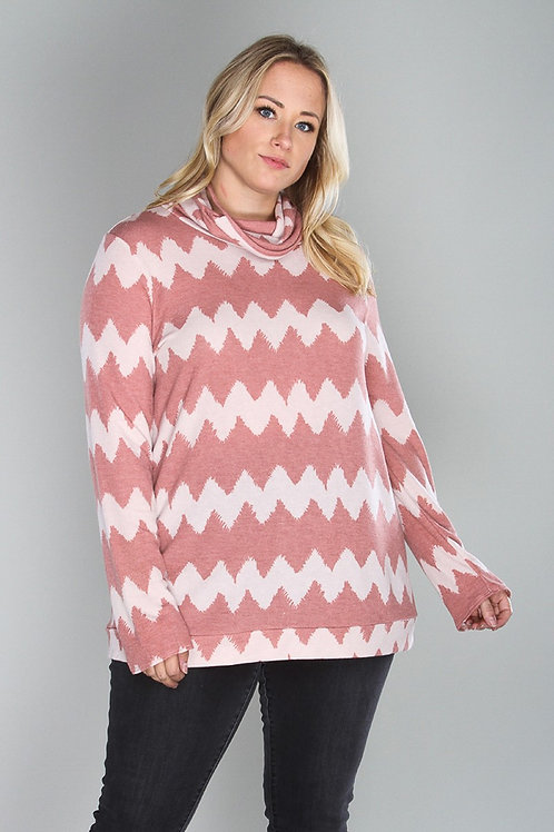 Pink Chevron Long Sleeve