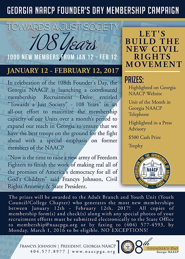 The Georgia NAACP | Founders Day Campaign Materials