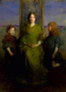 Abbott H.Thayer Vierge au trône 1892/93