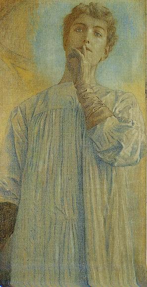 Fernand Khnopff Du Silence, pastel sur papier ca, 1890