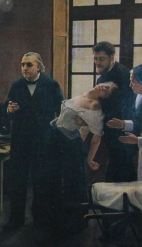 André Brouillet, Charcot enseignant à la Salpêtrière, 1887,détail