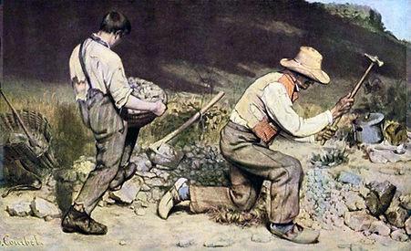Gustave Courbet, Les casseurs de pierre, 1849