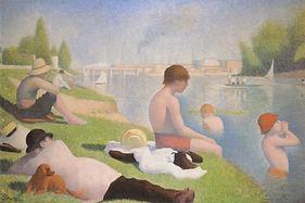 Georges Seurat, Asnières, Baignade, 1884