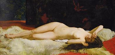 Alphonse Lecadre, Nu allongé,1870
