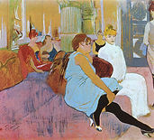 Henri de Toulouse-Lautrec,  Salon de la rue des Moulins, 1894
