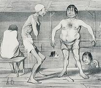 Honoré Daunimier, Les baigneurs, 1840-41