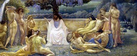 Jean Delville, L'école de Platon, 1898