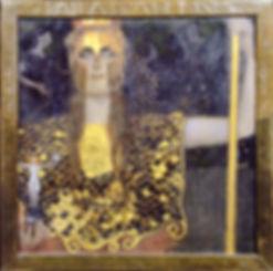 Gustav Klimt Pallas Athéna 2nde exposition 1898