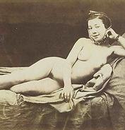 Félix-Jacques Moulin,  Nu allongé souriant, 1852