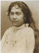 Teha´amana,  première épouse tahitienne de Gauguin, photographie