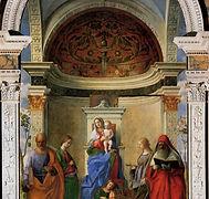Giovani Bellini, La Vierge et l'Enfant avec quatre Saints ou Retable de San Zaccaria, 1505