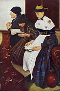 Wilhelm Leibl Three woman in church 1882
