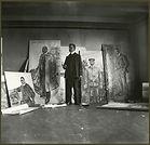Edvard Munh, Autoportrait, atelier de Skrubben à Kragerø, 1909-1910