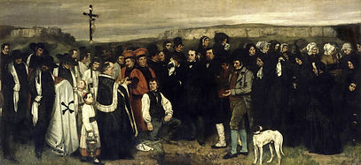 Gustave Courbet, Un enterrement à Ornans, 1849-50