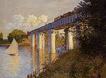 Claude Monet, Le pont de chemin de fer, 1872