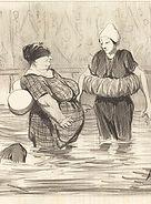 Honoré Daunimier, Les baigneuses, 1840-41