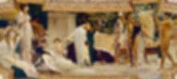 Gustav Klimt, Le Char de Thespis, Burgtheater Vienne, 1886-88