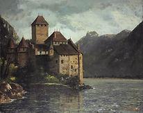 Gustave Courbet, Le château de Chillon, 1874