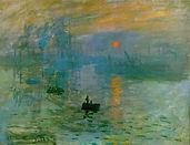 Claude Monet, soleil levant, 1872/73