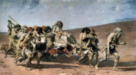 Fernand Cormon, Caïn fuyant avec sa famille, 1880