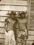 Paul Emile Miot, Two Tahitian men, 1870