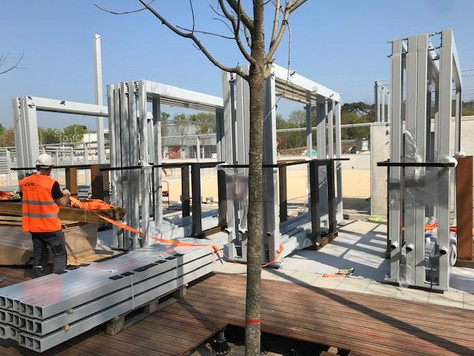 Installation à Roland Garros.