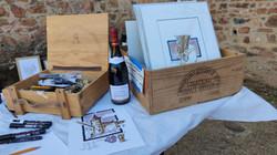 Peinture au vin rouge avec Laurent Bessot