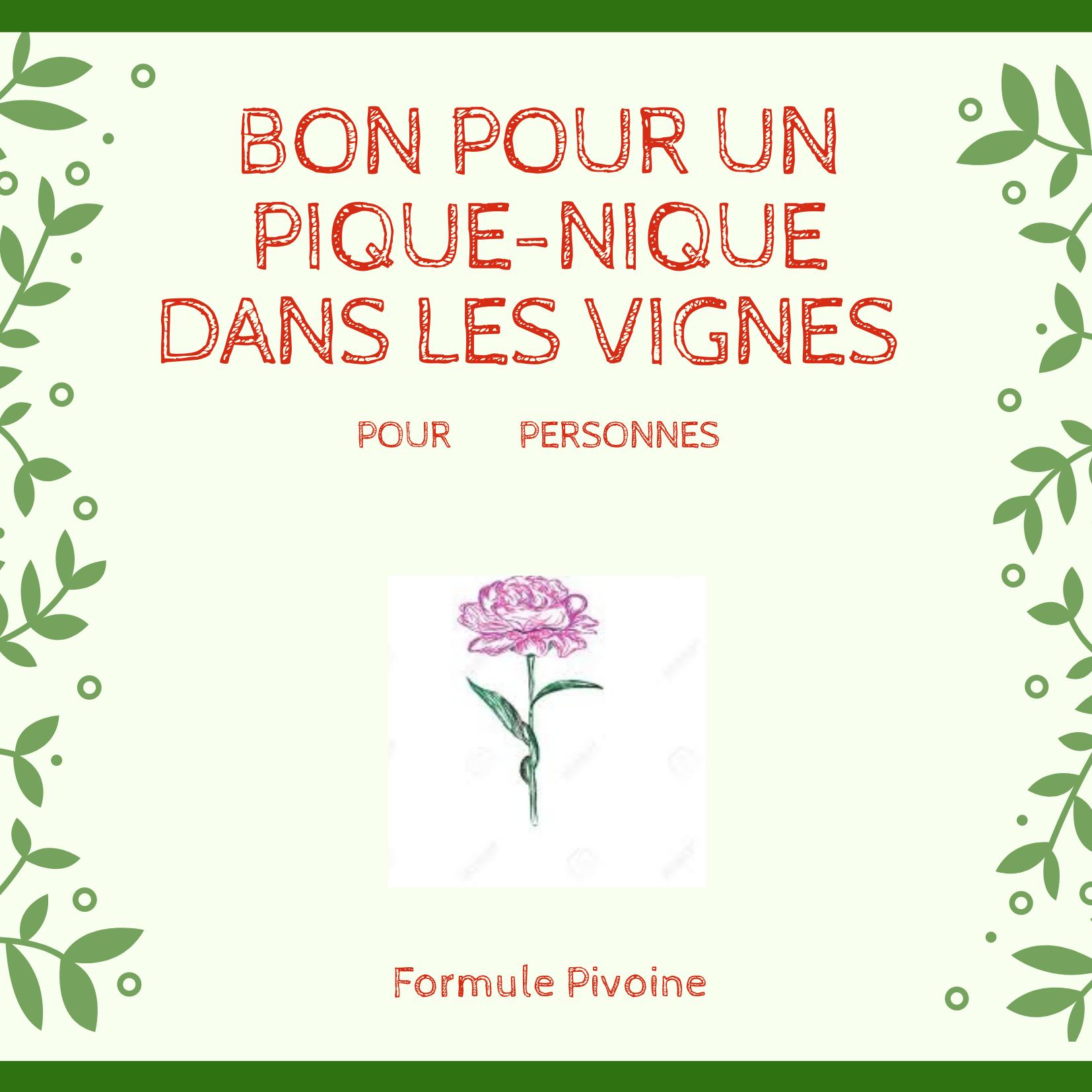 Bon cadeau Pivoine