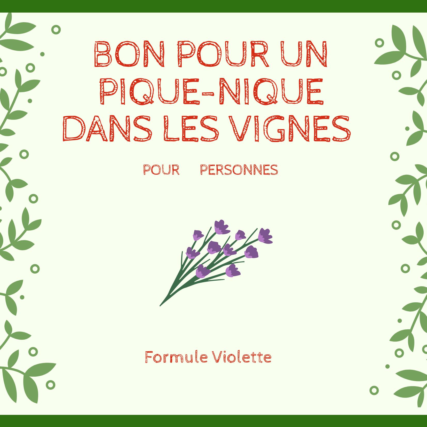 Bon cadeau Violette