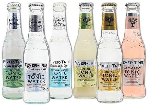Fever Tree selection of mixers and tonics