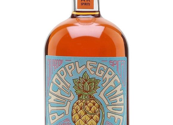 Pineapple grenade spiced rum bottle