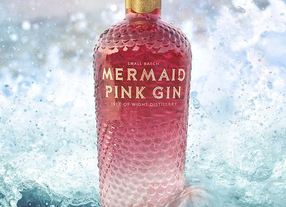 Mermaid pink gin from Isle of wight distillery