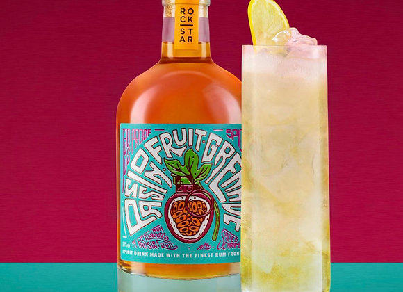 Passionfruit Grenade Overproof Rum and cocktail glass